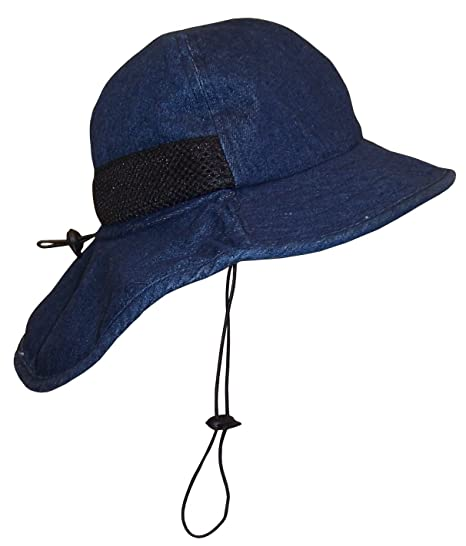 38f1b1c06cf Amazon.com  N Ice Caps Kids Washed Distressed Cotton Denim Adjustable Hiker Sun  Hat  Clothing