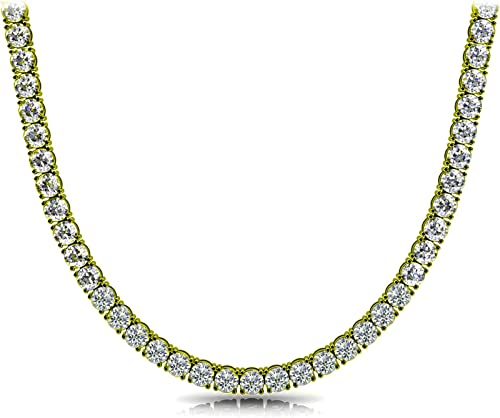 choker pendant jewelry jewellery Sterling silver necklace with 4mm zirconia silver necklace zirconite