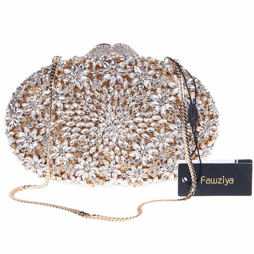 Amazon.com: fawziya Floral Huevo Forma Crystal embrague ...