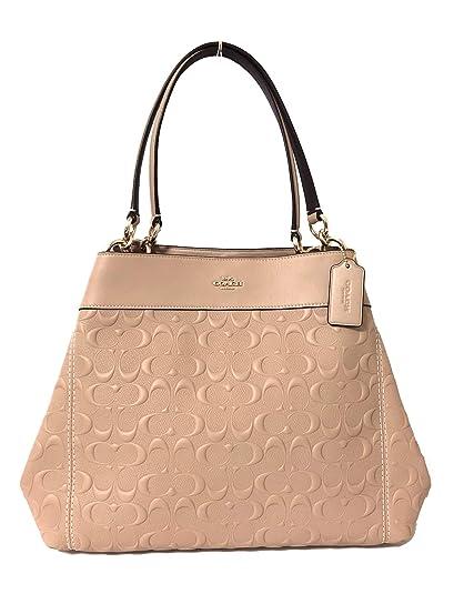 coach f25954 nude pink light gold signature leather women s shoulder rh amazon co uk