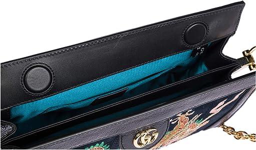 Gucci bolsos con asas largas para compras mujer en piel nuevo ophidia blu: Amazon.es: Zapatos y complementos