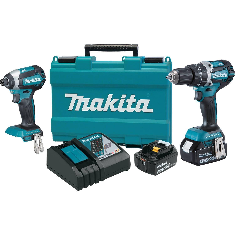 Makita XT269M 18V LXT Lithium Ion Brushless Cordless 2 Pc. Combo Kit 4.0Ah