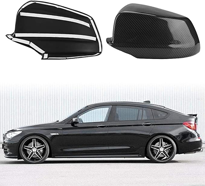 Carbon Fiber Rearview Mirror Cover Caps Keenso Door Side Mirror Cover Caps for BMW 5 Series F10 F11F18 Pre-LCI 2011-2013