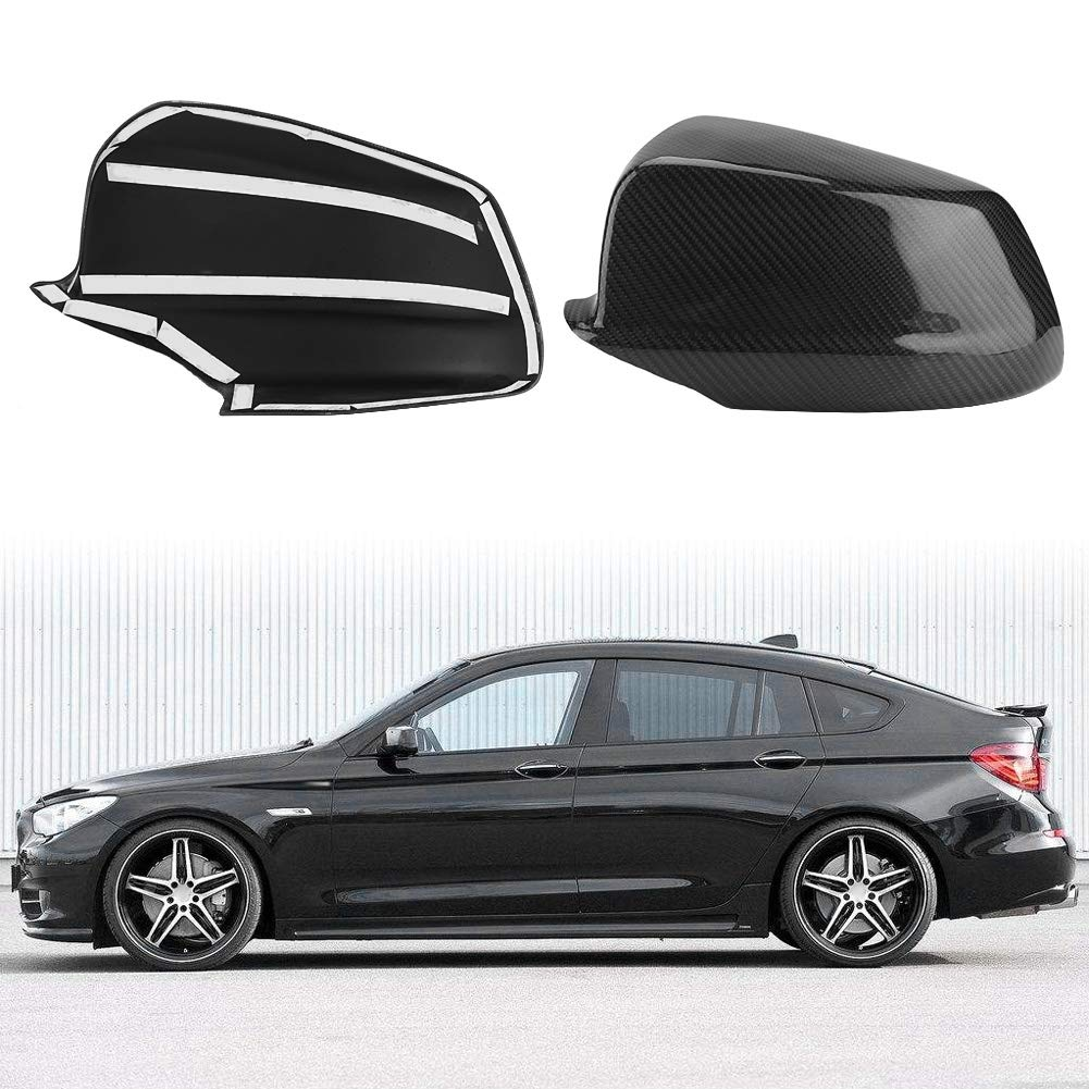 KIMISS 1 Pair of Carbon Fiber Rear View Mirror Cover for BMW 5 Series F10/F11/F18 Pre-LCI 11-13 by KIMISS (Image #3)