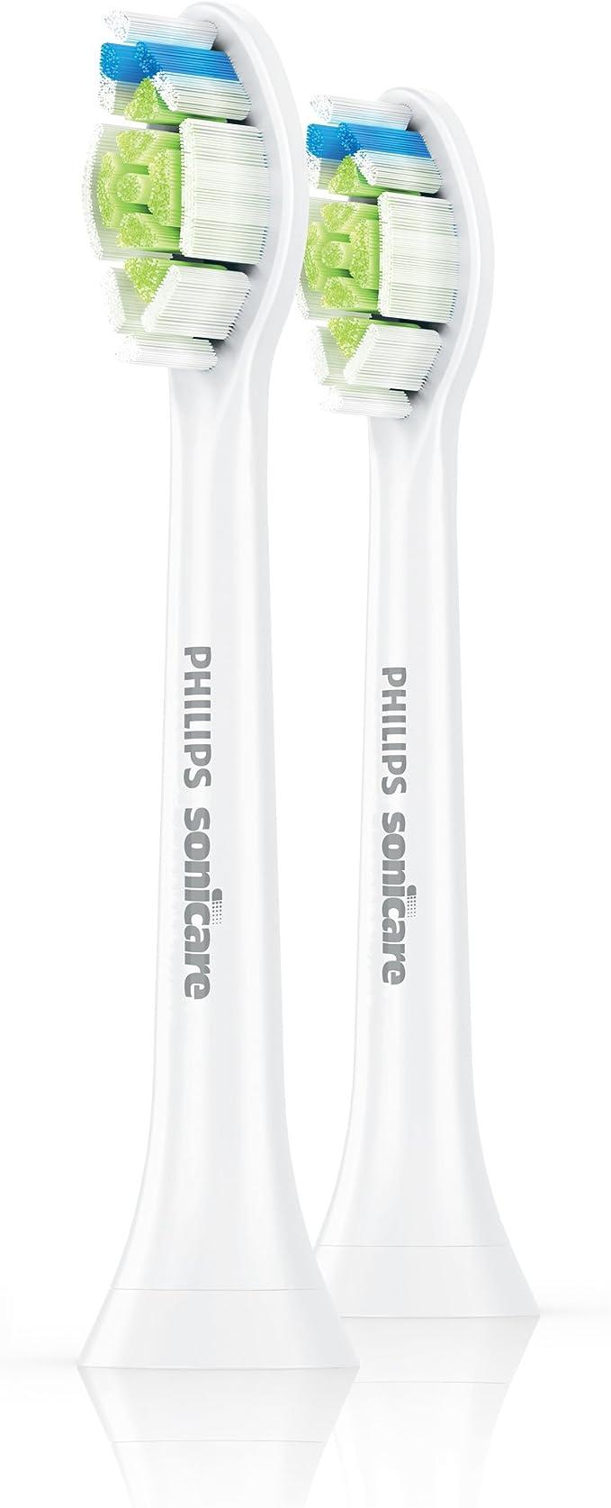 Philips Sonicare DiamondClean HX6062/07 - Set de 2 cabezales estándar para cepillo de dientes eléctrico, color blanco: Amazon.es: Salud y cuidado personal