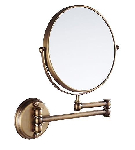 Badspiegel Eridanus Wand Kosmetikspiegel 3-Fach Vergrößerung Schminkspiegel