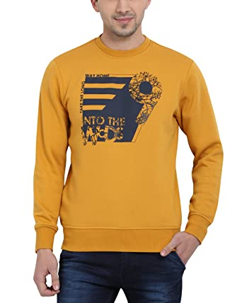 40661cfc2d t-base Men's Yellow Printed Graphic Sweatshirt - Sweatshirts for Men:  Amazon.in: Clothing & Accessories