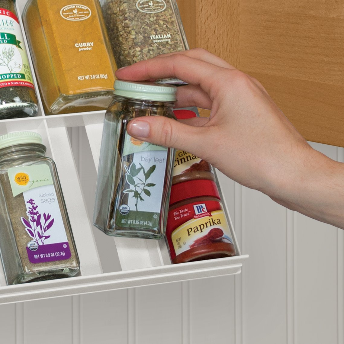 YouCopia Classic SpiceStack 24-Bottle Spice Organizer with Universal Drawers, White by YouCopia (Image #3)