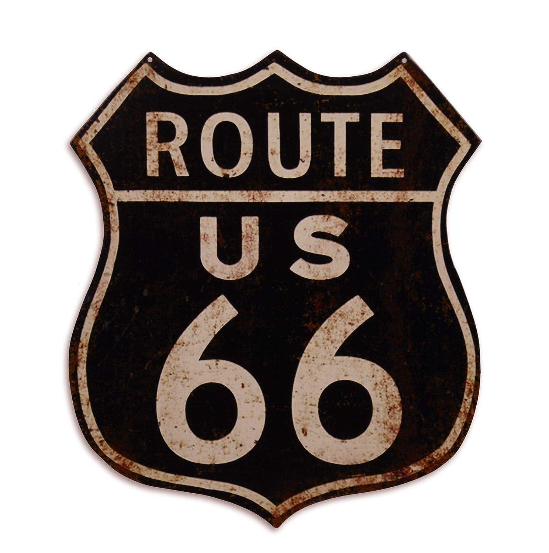 Ellas-Wohnwelt Route 66 - Placa Decorativa de Chapa con ...