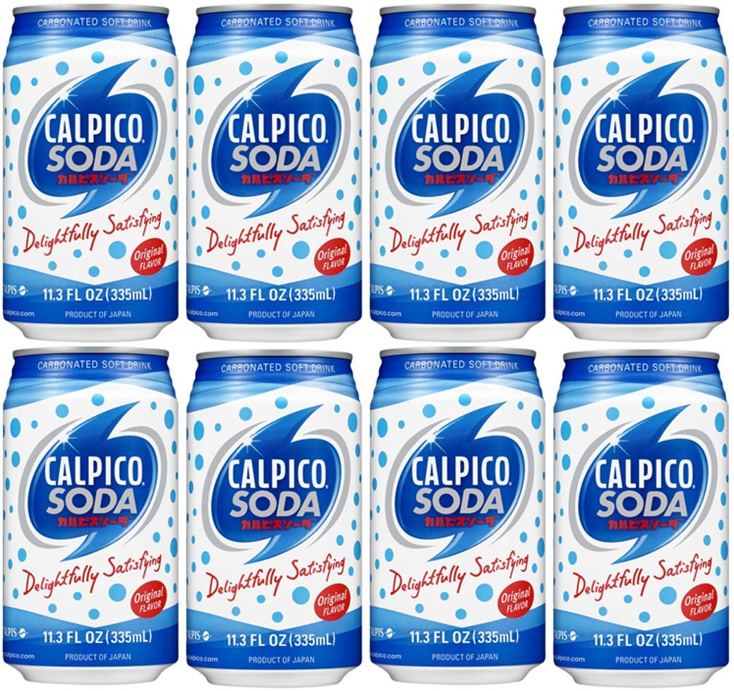 CALPICO SODA, Carbonated Soft Drink, Hint of Citrus Flavor, Japanese Soda, Made with CALPICO and Carbonated Water. 11.3oz Can (Pack of 8)