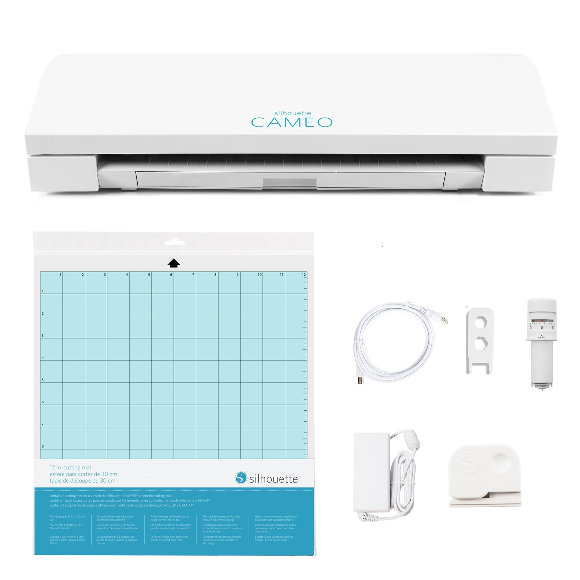 ویکالا · خرید  اصل اورجینال · خرید از آمازون · Silhouette SILHOUETTE-CAMEO-3-4T Cameo 3 Wireless Cutting Machine-AutoBlade-Dual Carriage-Studio Software, White wekala · ویکالا