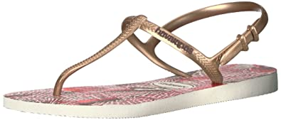 Havaianas Women's Freedom Sl Print Sandal Flip Flop, Pearl Pink, 37 BR/7/8 W US