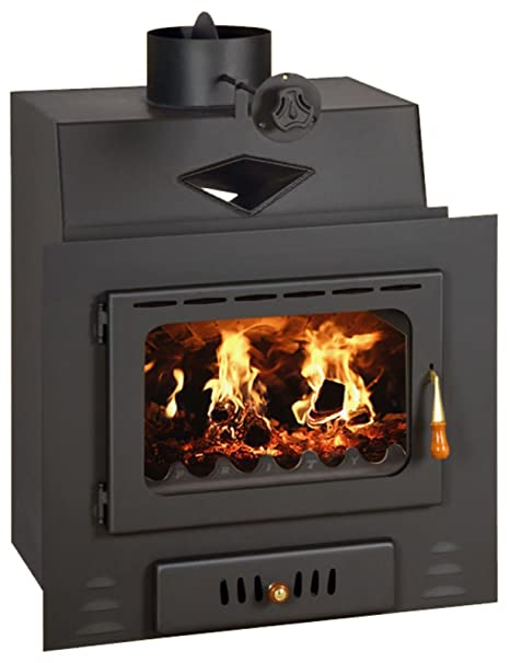 Wood Burning Fireplace Insert Inset Modern Multi Fuel Built in Stove Prity M: Amazon.co.uk: DIY & Tools