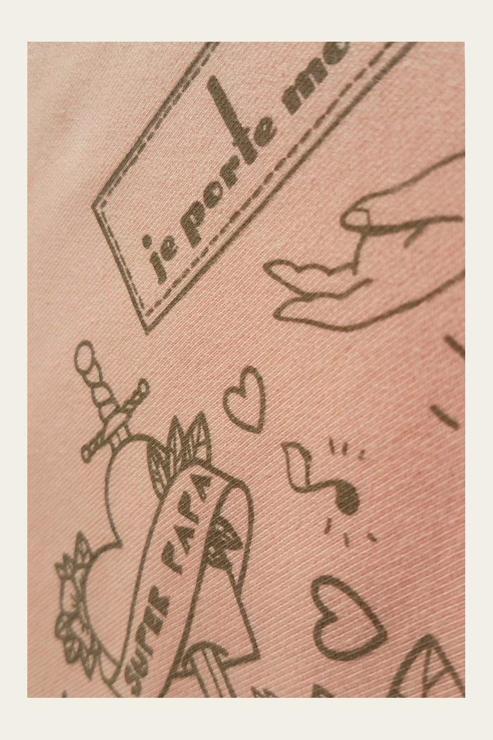 Echarpe De Portage BASIC - Tattoo - Rose Nude - JPMBB - Echarpe Porte Bébé  Je 501ee3b73c3