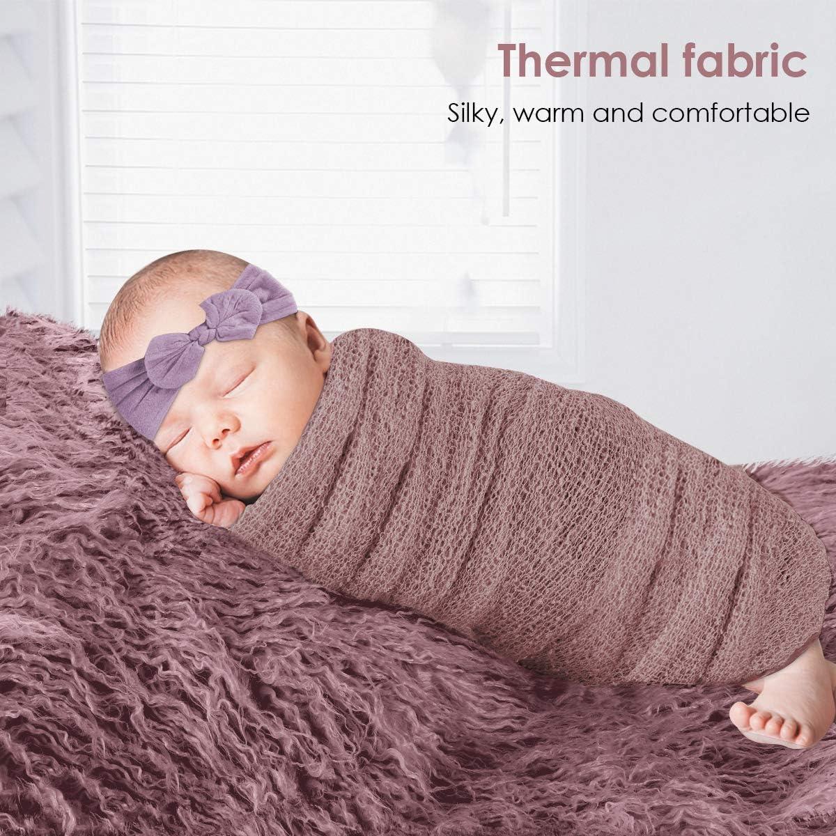DaMohony manta para fotograf/ía de reci/én nacido alfombrilla para ni/ños y ni/ñas gris gris Juego de accesorios para fotos de beb/é manta para fotograf/ía de reci/én nacido
