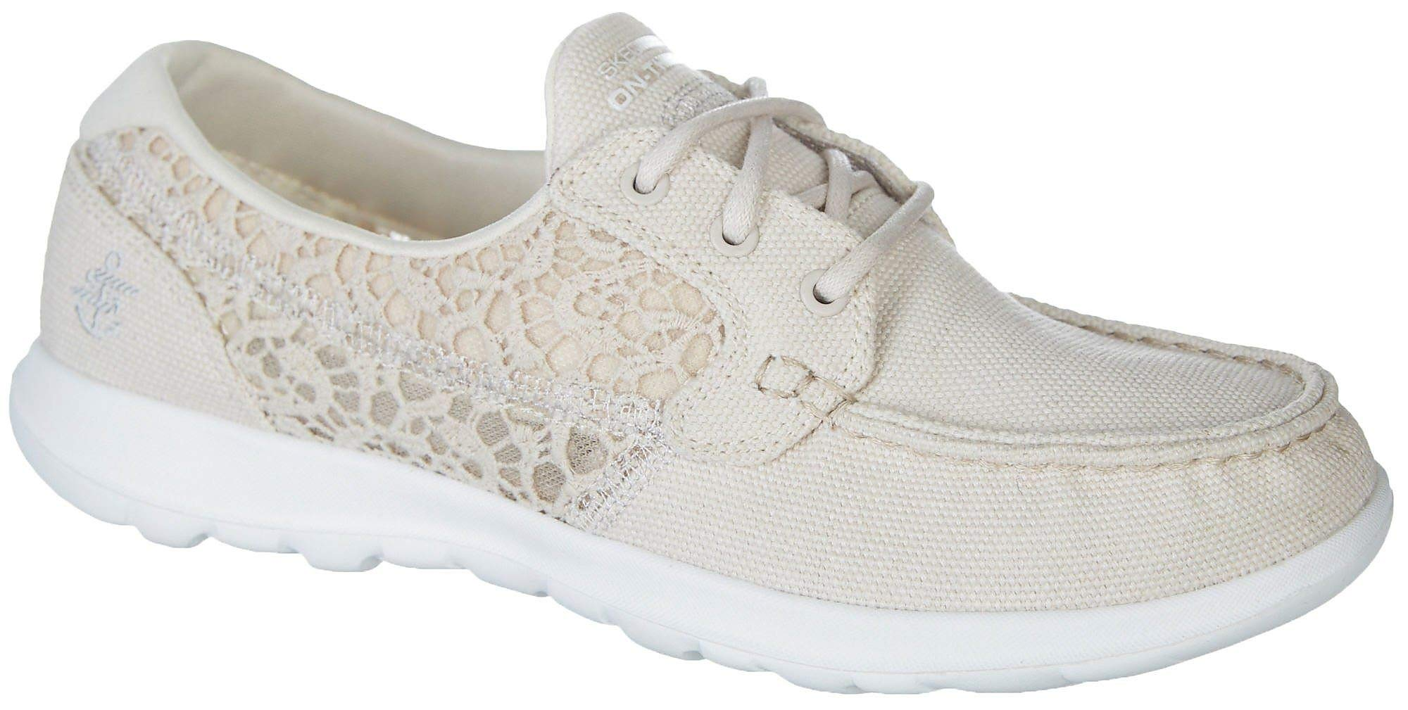 Skechers Performance Women's Go Walk Lite-15431 Boat Shoe,natural,10 M US by Skechers