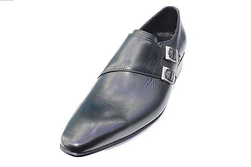 Wear & Walk UK - Mocasines de Piel para hombre negro negro