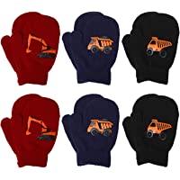 Cooraby 6 Pairs Toddler Magic Stretch Mittens Winter Unisex Baby Knitted Gloves Mittens