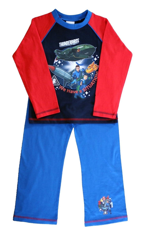 70% OFF Thunderbirds Oficialmente Certificado Mangas Completas Azul y  Camisa de Pijama de Algodón Rojo b0437329efe