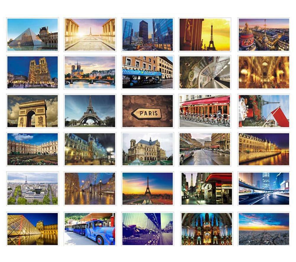Beautiful World Travel Scenery 30 PCS Artistic Retro Postcards- Paris