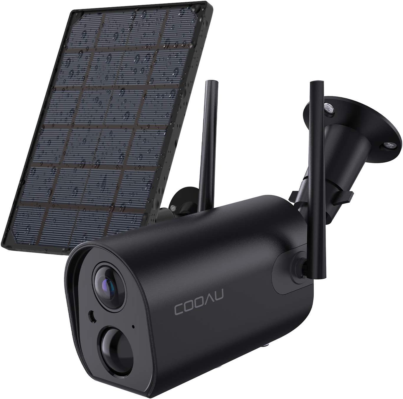 COOAU 15000mAh Akku Überwachungskamera mit Solarpanel - Überwachungskamera außen