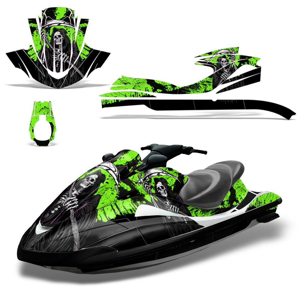 Yamaha Waverunner 2002-2005 Decal Graphic Kit Ski Wrap Jetski Wave Runner REAPER GREEN
