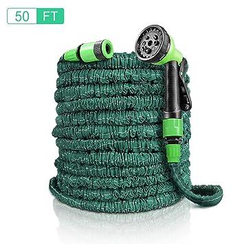Flexibler Gartenschlauch EASY EAGLE 15M Flexischlauch Gartenschl/äuche Flexibel ausdehnbar bis 50FT Dehnbar Erweiterbar Bew/ässerung Stretch Schlauch mit 8 Arten Brause