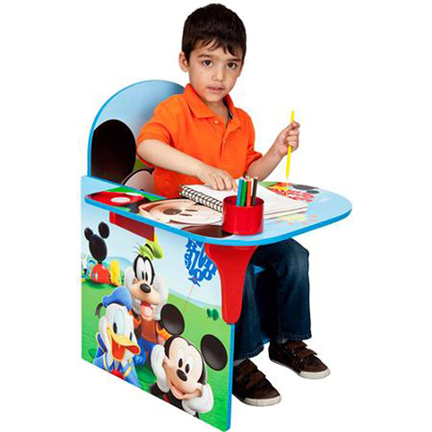 Amazon Disney Chair Desk With Storage Bin Mickey Mouse