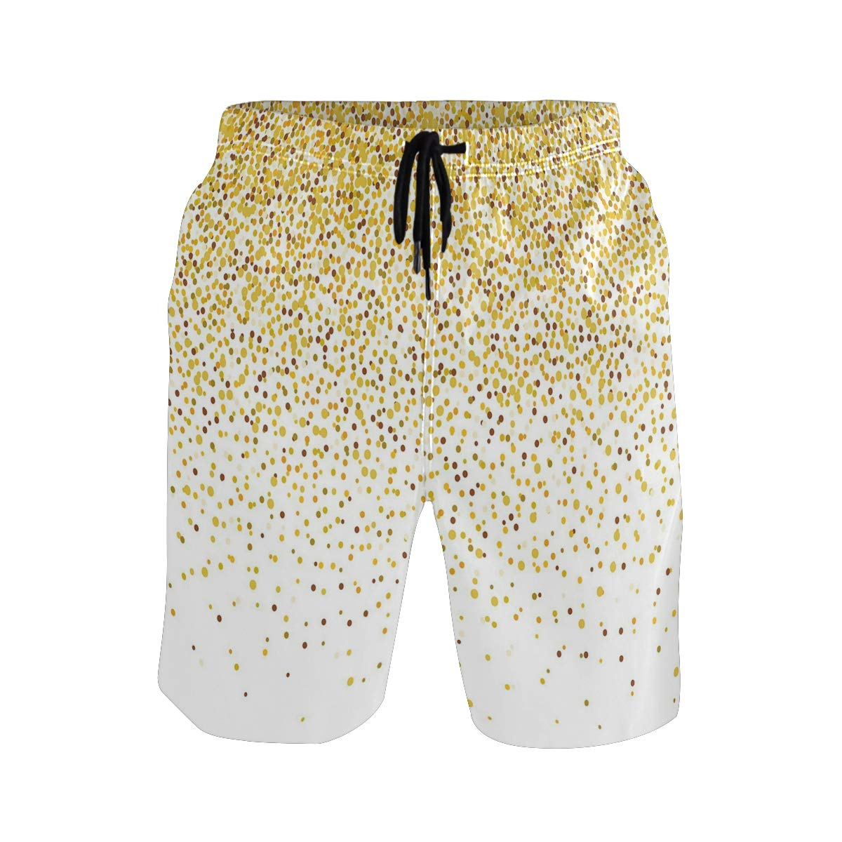 KVMV Party Inspired Confetti-Like Circles and Rounds Falling Down Effect Casual Swim Trunks All