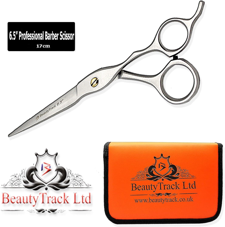 BeautyTrack Coupe Cheveux Ciseaux Amincissants Ciseaux Set- Salon Coiffeur professionnel Ciseaux coiffeur Safety Rasoir Metal Hairpin Ciseaux Pouch Kit complet coiffure College