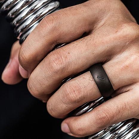 Amazoncom ThunderFit Silicone Wedding Ring for Men Rubber