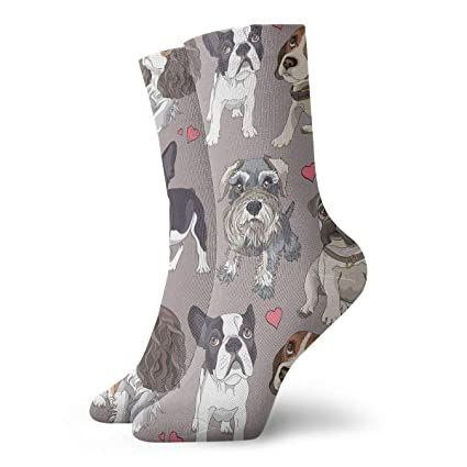 TAOMAP89 Different Cartoon Puppies Pattern Compression Ankle Socks for Women  and Men Wool Warm Socks- 1ead55081