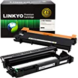 LINKYO 兼容硒鼓和硒鼓组合替换件 适用于 Brother TN660 TN-660 DR630 DR-630(1 个硒鼓,1 个硒鼓)