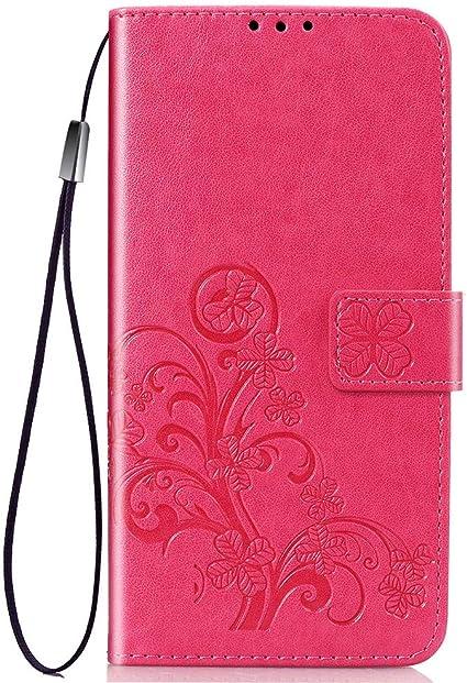 COTDINFOR per Huawei Honor 9X Custodia Slim Chiusura Magnetica Antiurto Retro PU Folio Filp Portafoglio a Fogli Mobili con Slot per Schede Custodia per Huawei Honor 9X Flower Butterfly Dark Purple SD