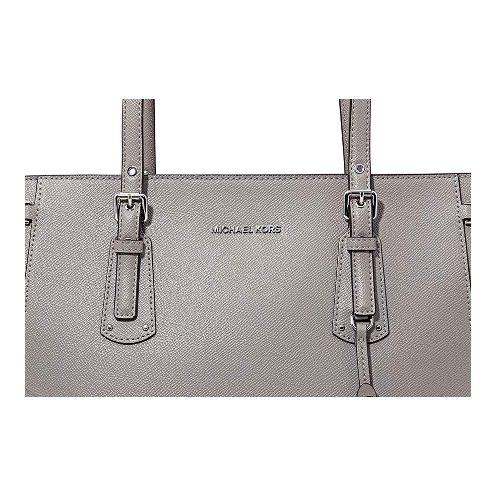 0e7a1cd61478 Michael Kors Voyager Pearl Grey Saffiano Leather Tote Bag Grey Leather:  Amazon.co.uk: Clothing