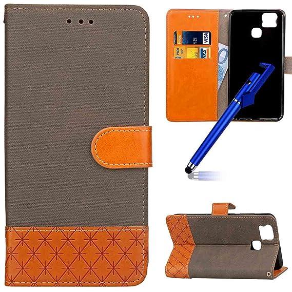 MoreChioce kompatibel mit ASUS Zenfone 3 Zoom Hülle Handyhülle,Elegant Schutzhülle Klapphülle Ledertasche Brieftasche Magneti