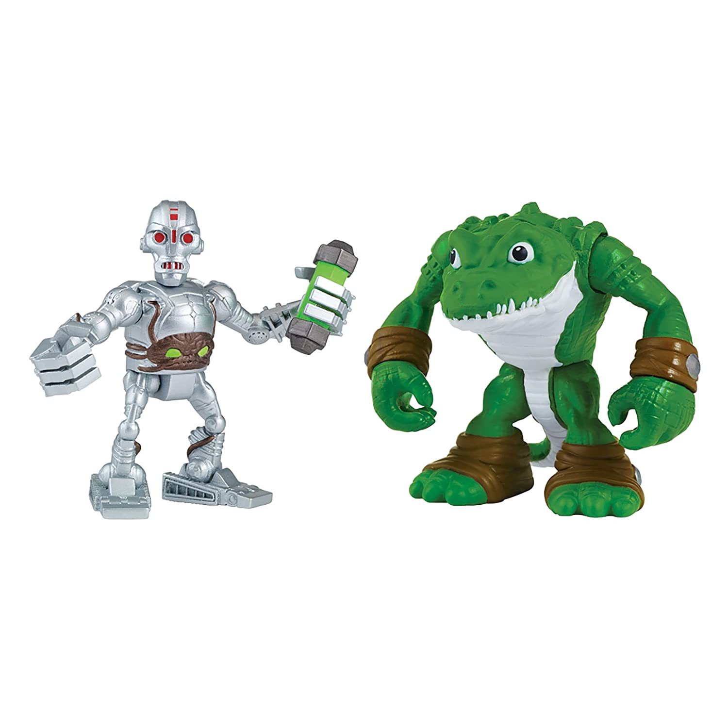 Teenage Mutant Ninja Turtles Pre-Cool Half Shell Heroes Kraang and Leatherhead Figures Playmates - Toys 96108