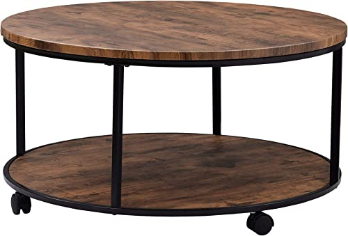 DERCASS 2-Tier Round Coffee Table