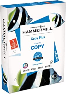 product image for Hammermill, 10503-1, Copy Plus Print Paper, 92 Bright, 3-Hole, 20lb, 8.5 x 11, White, 500/Ream, Sold As 1 Ream