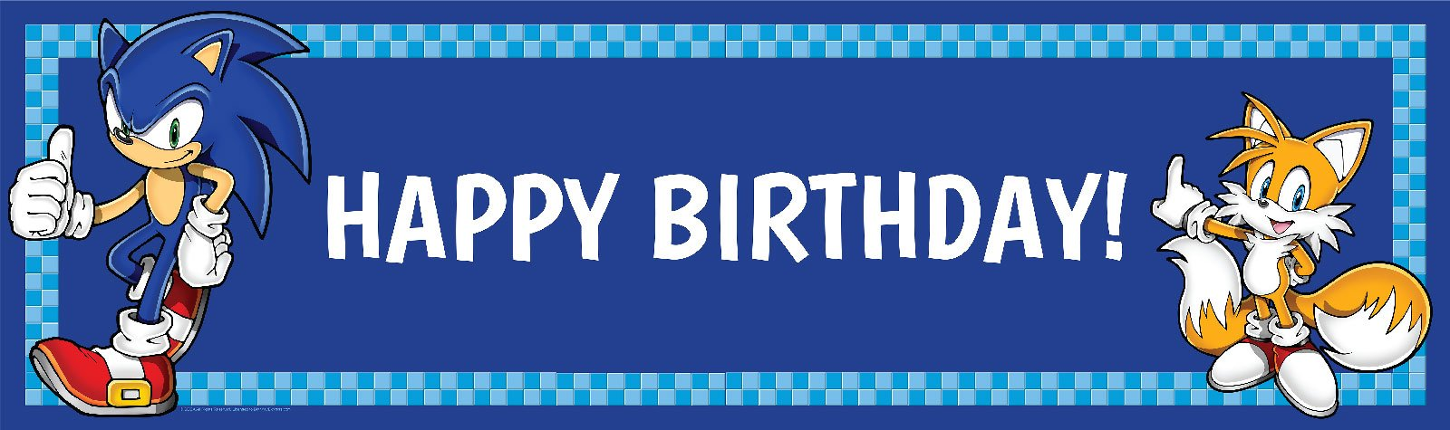 Sonic the Hedgehog Party Supplies - Vinyl Birthday Banner 18'' x 61''