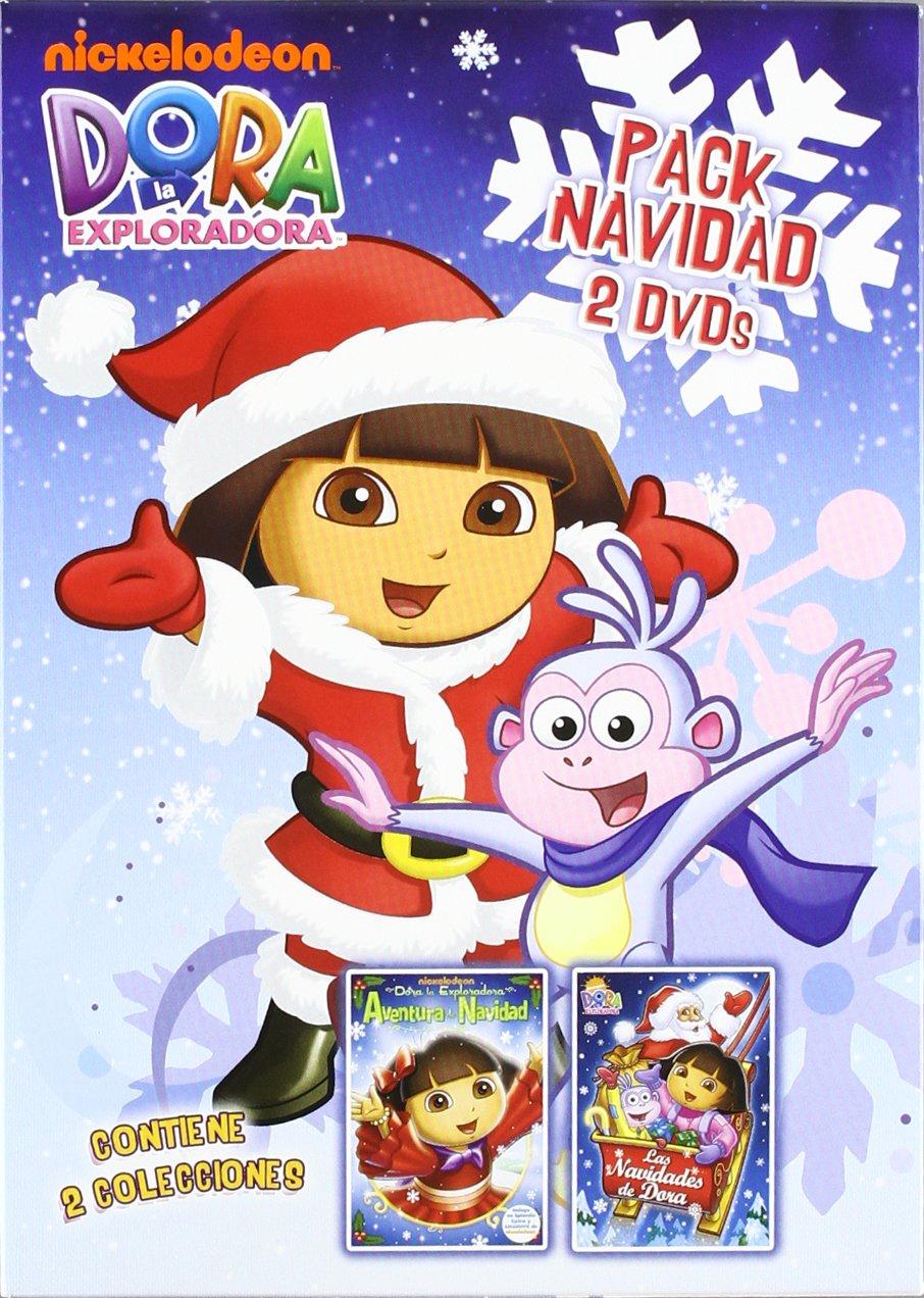 Pack Dora, la exploradora: Navidad + Cuaderno para colorear DVD ...