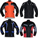 Hilbro New Men's Armoured Cordura Motorbike Jacket Quilted Waterproof Reflective Bikers