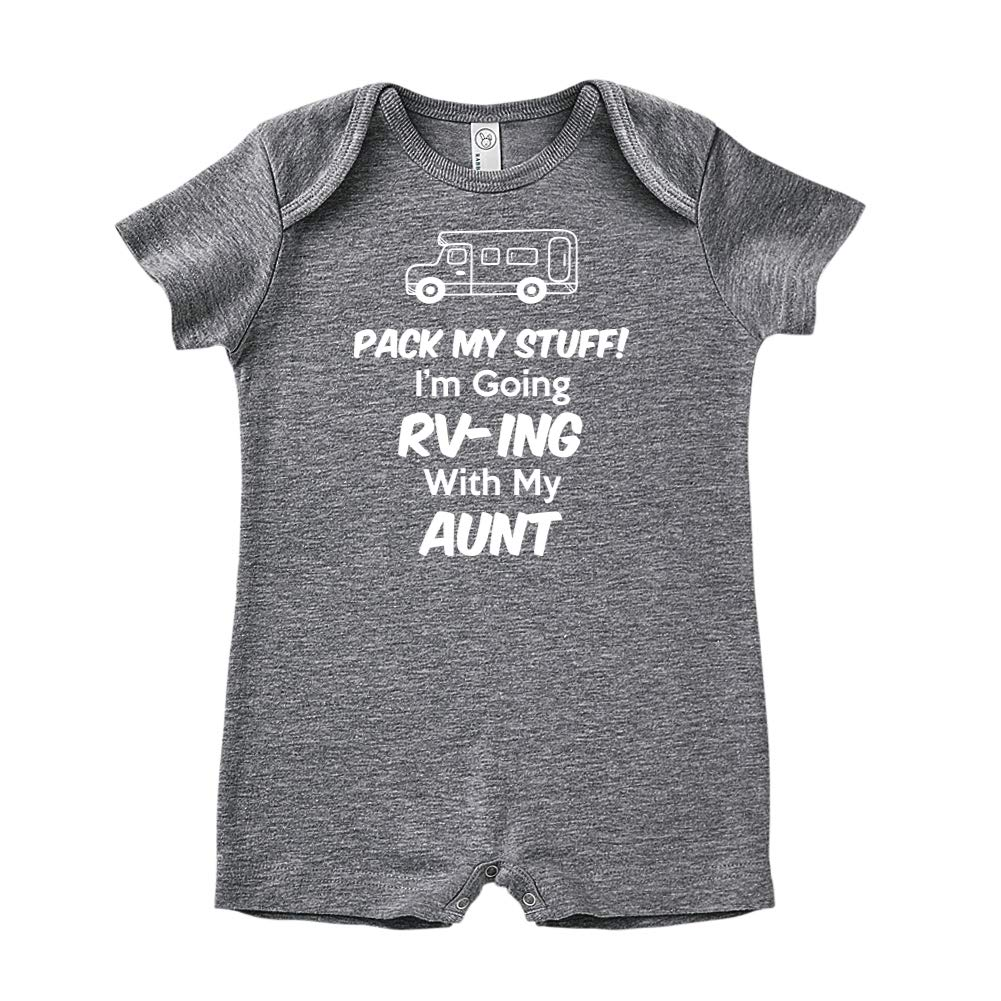 Pack My Stuff Baby Romper Im Going RV-ing with My Aunt