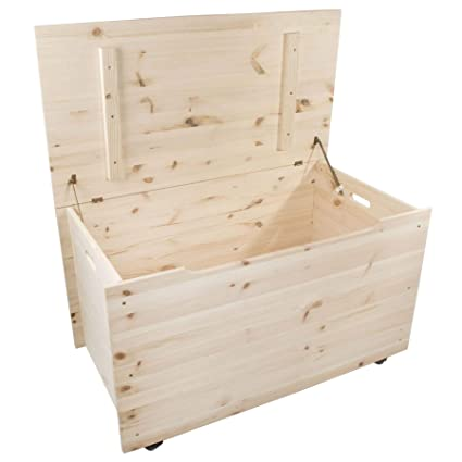 Super Extra Large Wooden Decorative Storage Chest With Hinged Lid On Wheels 90X48X51 Cm Toy Box Kids Bedroom Ottoman Trunk Unpainted Plain Unfinished Gmtry Best Dining Table And Chair Ideas Images Gmtryco