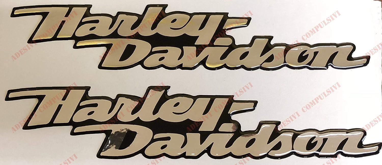 Escudo Logo Decal Harley Davidson, Dyna Street Bob, par Pegatinas resinati, Efecto 3D. para depó sito o Casco. Base Cromo (Plata a Espejo) Efecto 3D. para depósito o Casco. Base Cromo (Plata a Espejo) Adesivi Compulsivi