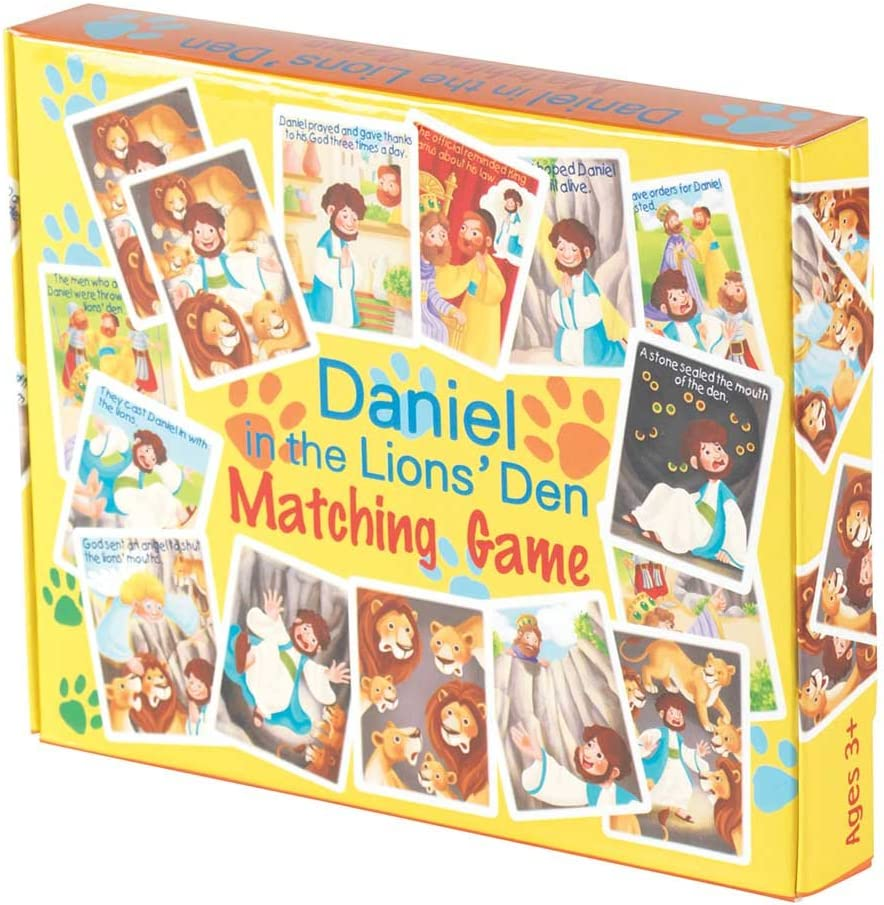 Daniel In The Lions Den 5.5 x 7 Cardboard 41-Piece Childrens Matching Game Dicksons