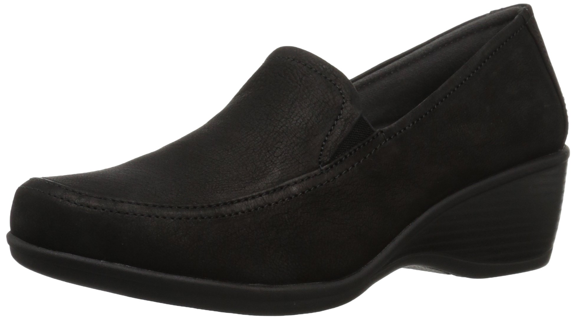 Eastland Women's Cora Slip-On Wedge, Black, 7 Medium US