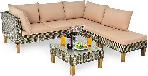 Tangkula L Shaped Patio Furniture Set