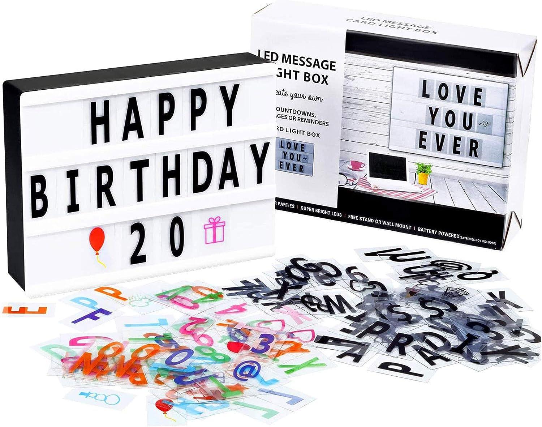 Cinema Light Box 90 Letters /& symbols Movie Style Decor Sign Holidays