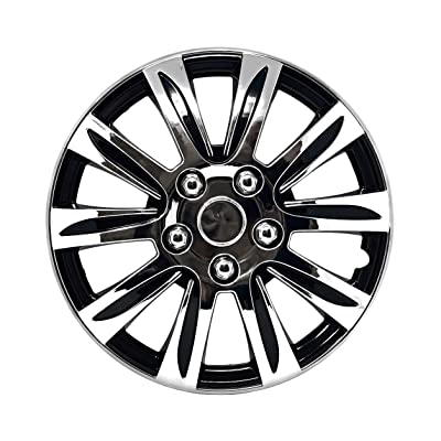 "Set of 4 Hubcaps 16"" Wheel Cover Marina Chrome ABS Quality Easy to Install Fit: Automotive"